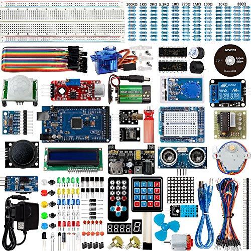 Support-200 Caps (Set / Kit für Arduino - Smraza für Arduino Mega2560 Projekt Ultimate Starter Kit mit Tutorial, MEGA2560 R3 Mikrocontroller und viel Zubehör Kompatibel für Arduino Mega2560 UNO R3)