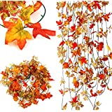 Bluelover 10pcs artificiel lierre érable plastique faux feuilles Garland Maison Jardin décoration