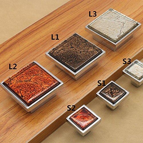 Vintage Kristall Metall Square Schublade Knöpfe Küchenschrank Türgriffe Schrank Schrank zieht Hardware, S2 (S2-diamant-ring)