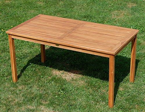 Edle TEAK XXL Gartengarnitur Gartenset Sitzgruppe Gartenmöbel TISCH + 1 Bank + 4 Sessel 'ALPEN' Holz geölt von AS-S - 6