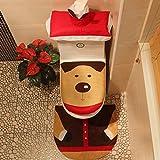 Thee copriwater copertura tappetino tappeto e carta velina cover decorazione natalizia pezzi Set Moose