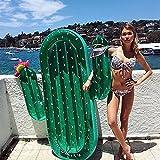 SLHP Schwimmtier Riesige Ananas Pool Party Schwimmgerät Aufblasbare Wasserspielzeug Flamingo Pool Floß PVC Aufblasbarer Schwebebett (Kaktus)