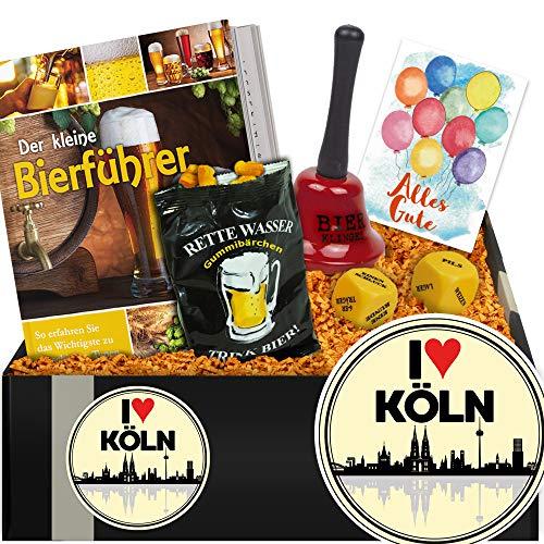I ✿ Köln | Bierset Bierparty | Geschenk Umzug nach Köln