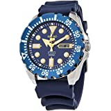 Seiko Men's Automatic Watch, Analog Display and Rubber Strap SRP605J2 Blue