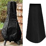 Large Chiminea Cover Outdoor Heavy Duty Waterproof Garden Patio Heater Cover Rain Sun UV Protector Black 122CM