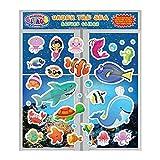 Incredible Clings Unter dem Meer Ozean (30 Stück) unglaubliche Gel und Fenster klammert - wiederverwendbare abnehmbare Puffy Sticker Pack für Kinder und Kleinkinder jungen und Mädchen