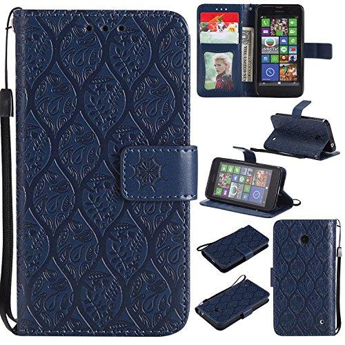 Kelman Custodia per Nokia Lumia 630 Cover Custodia Case - in Pelle + Silicone TPU Flip Portafoglio Coperchio di Protezione del Telefono - [#YYT08]