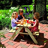 Unbekannt TraumGarten Kinderpicknicktisch ''Fabian'' | Maße: B x T x H 89 x 89 x 50 cm | für Kinder von 3 - 14 Jahren