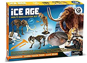 Geoworld - Cl470K - Jeu Scientifique - Multi kit d'excavation - Age de glace
