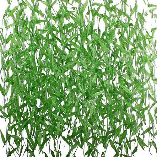hogado 50375Füße Künstliche Vine Greenery Girlande Faux Seide Willow Rattan Zweig Fake Garten Hochzeit Festival Fensterbank Balkon Hof Decor -