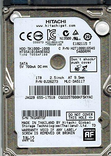 Preisvergleich Produktbild Hitachi hts541010 a9e662 P / N: 0j26273 MLC: da5117 1 TB