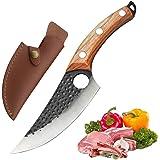 Promithi Couteau de chef à désosser professionnel, couteau de boucher chinois, couteau à couperet fait main, couteaux de cuis