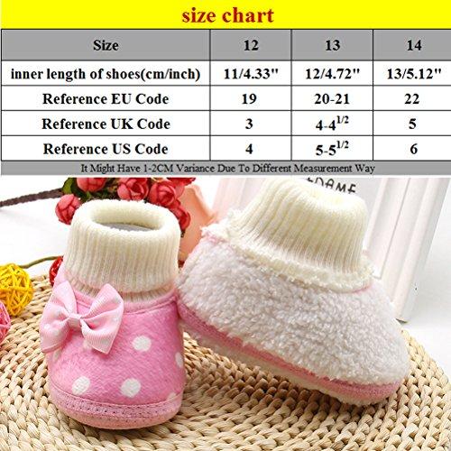 Zhuhaitf Ausgezeichnet Toddler Soft Boots Cotton Shoes Baby Girls Winter Warm Kids Gift XSX021 Purple