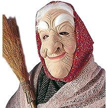 Máscara de bruja anciana antifaz cara mujer vieja accesorios
