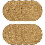 COM-FOUR 8x dessous de plat rond en liège, Ø 19.5 x 0.5 cm, soucoupe pour casseroles et poêles, résistant à la chaleur, très bonne qualité (08 pièces - Ø 19,5 x 0,5 cm)