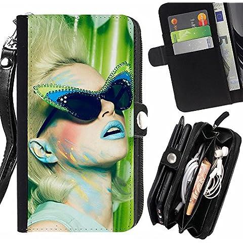 Subgiant Art & Design Plastica Dura Guscio Protettivo Cassa Cover HTC Desire 825 ( Occhiali da sole modello Cateye )