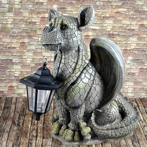 Garden Dragon Gargoyle with Solar Light