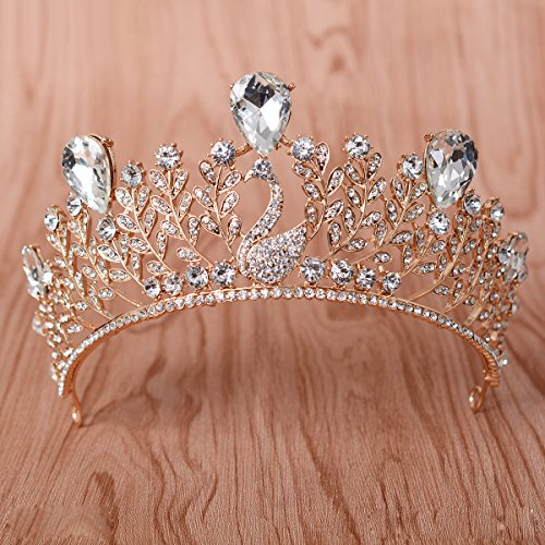 KPHY-Koreanische Krone Schmuck Die Braut Ist Blau Phoenix Krone Königin Prinzessin Kopf Ornament...