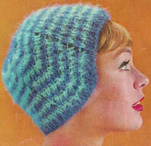 Ladies Striped Knit Beanie Hat Cap Pattern (English Edition)