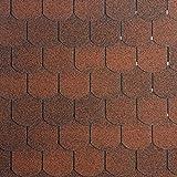 [14,33 EUR/m²] Bitumen-Dachschindeln Biberschwanz rot, 3 m², Dachbelag, Bitumenschindeln