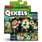 Qixels - Kk87023 - Mini Kit 4 Créations - Glow In The Dark - Thème Zombies