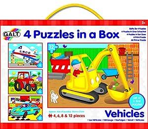 Galt Toys 1004009 - Set de 4 puzzles, diseño de vehículos