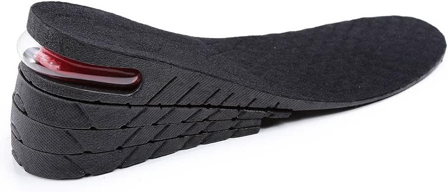Fuloon Paire de Semelle Coussin de Chaussures Grandissante Intérieur 4 Couches 3,54'' Séparables pour tous les gens et presque tous les tailles