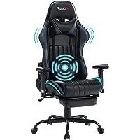 Kasorix Chaise Gaming Ergonomique,Hauteur réglable Chaise Gamer avec Repose-Pieds et Massage Oreiller Lombaire pour Les…