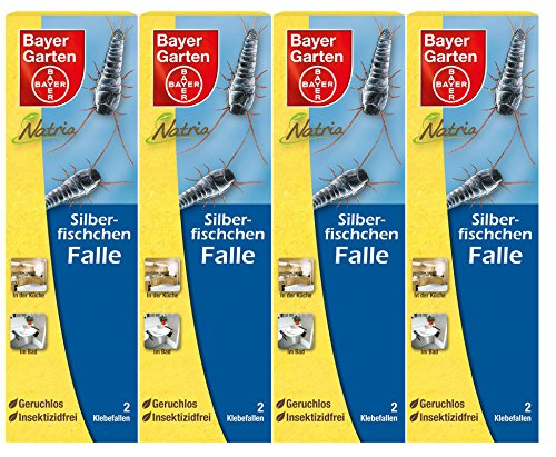 falle silberfische 4 x 2 (8 Stk) Bayer Natria Silberfischchen-Falle insektizidfrei