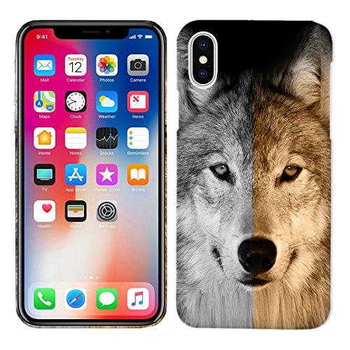 iPhone X Fall/iPhone 10Fall-Wolf Harte Kunststoff Back Cover. Slim Profil Cute Bedruckt Designer Schutzhülle Zum Aufstecken von Glisten 10 Harte Fälle