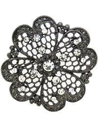 Jodie Rose 15137 - Broche de mujer de metal con cristales