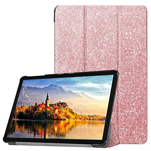FSCOVER Hülle für Huawei MediaPad M5 Lite 10, Ultra-Slim leichte PU-Lederabdeckung mit Auto Wake/Sleep-Funktion magnetische Schutzhülle für Huawei M5 Lite 10, Pink