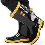 Bottes de sécurité, bottes de caoutchouc de sauvetage de lutte contre l'incendie chaussures de sécurité en caoutchouc de rési