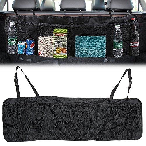 Kofferraum Organizer mit | Auto Organizer mit großen Netz-Taschen | Der Platzsparer für mehr Ordnung und Platz in Ihrem Kofferraum
