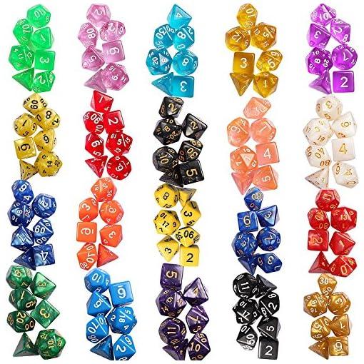 Outee-140-Stck-Polyeder-Wrfel-Spiel-Wrfel-20-Komplettsets-von-d20-d12-2-d10-00-90-und-0-9-d8-d6-und-d4-fr-DND-MTG-RPG-Dungeons-und-Drachen-Wrfel-Spiel-enthalten-1-Big-Pouch-mehrere-Farben