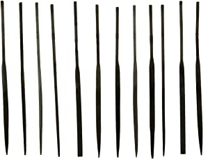 F-O-M 12-Piece Fine Cut Needle File Set in Assorted Shapes (3mm x 140mm)