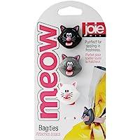 Joie Kitchen Gadgets 067742-124159 Meow Attaches pour sac, Blanc/Noir/Gris