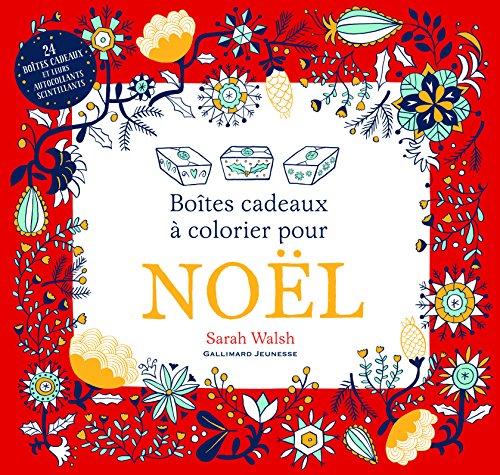 Noël : boîtes cadeaux à colorier par Sarah Walsh