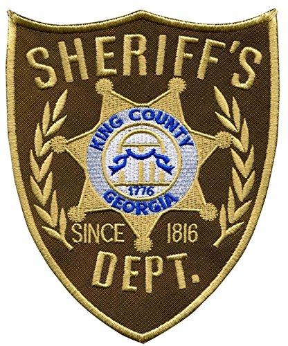 Jean Junction The Walking Dead King 's County Sheriff 'S Abt Badge bestickt Patch Eisen Oder Nähen auf 10cm