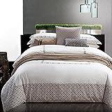 WarmSun® 200X230CM 1.5 / 1.8M cama doble Algodón de bordado de sarga simple 4 Juegos de ropa de cama Serie de moda personalizada