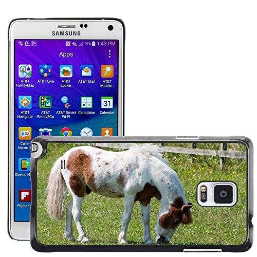 Just Cover Hot Style-Custodia rigida per cellulare, motivo: cavallo/Pony M00140281 pascolo Pretty/Equine/Samsung Galaxy Note 4, IV