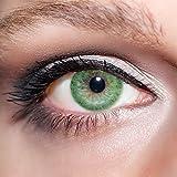 KwikSibs farbige Kontaktlinsen, grün, 1-farbig, weich, inklusive Behälter, BC 8.6 mm / DIA 14.0 / +0,75 Dioptrien, 1er Pack (1 x 2 Stück)