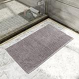 Lifewit Rutschfeste Badematte 50x80cm Badteppich aus Mikrofaser Chenille Teppich für