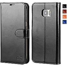 OCASE Funda Galaxy S7 Edge Funda Samsung Galaxy S7 Edge con Soporte Plegable, Ranuras para Tarjetas y Billetes, Broche Magnético, Funda para Galaxy S7 Edge – Negro
