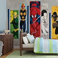 Marvel Comics Team Héroes foto pintado mural de papel pintado (268fw), FIELTRO (