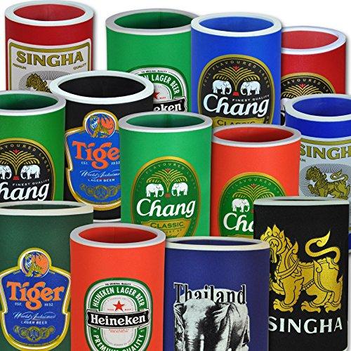 Flaschen-und Dosenkühler in verschiedenen Größen, Singha (bunte Mischung 5Stück)
