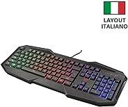 Trust Gaming GXT 830-RW Avonn Tastiera da Gioco Illuminata, Nero [Layout Italiano]