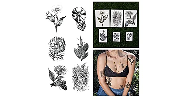 2df5886375748 Tattify Assorted Flower Temporary Tattoo Pack - Garden Party (Set of 12):  Amazon.co.uk: Beauty
