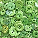 100 g-Beutel mit gemischten grünen Acryl- und Harz-Knöpfen für besondere Verschönerungen
