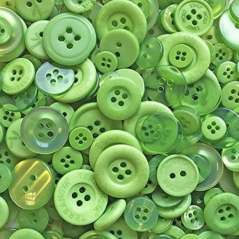 Beutel 100Gramm Grün Mix Acryl & Harz Tasten für, Verzierungen